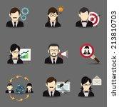 business people global teamwork ... | Shutterstock . vector #213810703