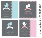abstract baby shower background ... | Shutterstock .eps vector #213845983