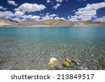 pangong tso or pangong lake ... | Shutterstock . vector #213849517
