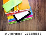 new school supplies ready for... | Shutterstock . vector #213858853