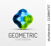 abstract geometric shape icon ... | Shutterstock . vector #213884737