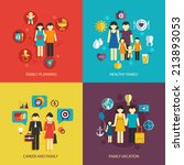 business concept flat icons set ... | Shutterstock . vector #213893053