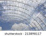 roof structure of raw material... | Shutterstock . vector #213898117