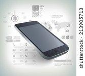 modern communication technology ... | Shutterstock .eps vector #213905713