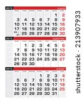 2015 three month calendar... | Shutterstock .eps vector #213907933