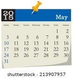 calendar 2015 may | Shutterstock .eps vector #213907957