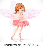 beautiful little fairy girl in... | Shutterstock .eps vector #213910213