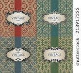 set of vintage frame | Shutterstock .eps vector #213917233