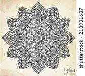 mandala. round ornament pattern.... | Shutterstock .eps vector #213931687