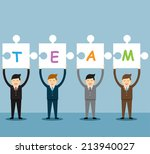 group of business people... | Shutterstock .eps vector #213940027