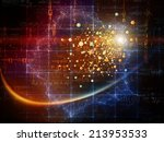particle geometry series.... | Shutterstock . vector #213953533