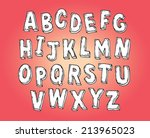 vector hand drawn alphabet set  ... | Shutterstock .eps vector #213965023