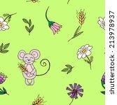 cute seamless pattern in... | Shutterstock .eps vector #213978937