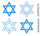 blue star of david symbol... | Shutterstock .eps vector #213992173