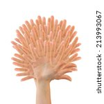 tree made of hands isolated on...   Shutterstock . vector #213993067