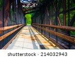 Railroad And Pedestrian Bridge...