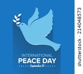 international peace day | Shutterstock .eps vector #214048573