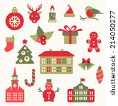 christmas icon collection | Shutterstock .eps vector #214050277