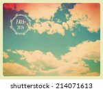 fall sky background   vintage...   Shutterstock .eps vector #214071613