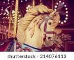 merry go round wooden horses...