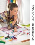portrait of thoughtful... | Shutterstock . vector #214097323