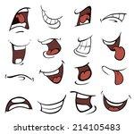 set of mouths cartoon  | Shutterstock . vector #214105483