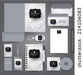 stationery set design  ... | Shutterstock .eps vector #214106083