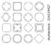 set vintage decorative  frames. ... | Shutterstock .eps vector #214119427