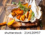 Roasted Potato Wedges With...