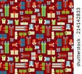 seamless gift boxes pattern....
