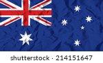 flag of australia on wrinkled...   Shutterstock .eps vector #214151647