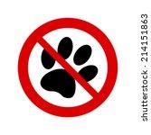 no dog paw sign
