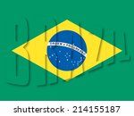 Illustration on Brazil flag with text