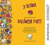 halloween stuff vector... | Shutterstock .eps vector #214156627
