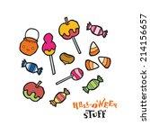 Halloween Sweets Vector Set Fo...