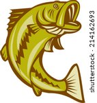 illustration of a largemouth...   Shutterstock .eps vector #214162693