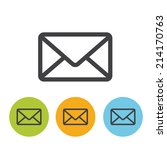 mail icon set | Shutterstock .eps vector #214170763