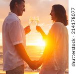 happy romantic couple enjoying... | Shutterstock . vector #214178077