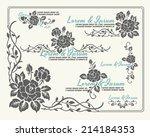 rose motif flower | Shutterstock .eps vector #214184353