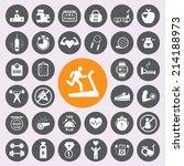 Fitness Icon Set.vector Eps10.