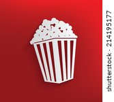 popcorn design on red... | Shutterstock .eps vector #214195177
