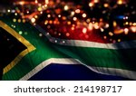 south africa national flag... | Shutterstock . vector #214198717