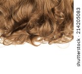 curly hair fragment placed over ... | Shutterstock . vector #214205083