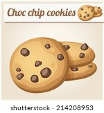 choc chip cookies. detailed... | Shutterstock .eps vector #214208953
