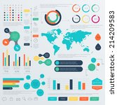 set of timeline infographic... | Shutterstock .eps vector #214209583