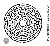 Black Vector Maze  Round...
