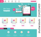 flat colorful website template... | Shutterstock .eps vector #214251403