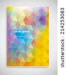 vector  business brochure or... | Shutterstock .eps vector #214253083