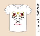 design t shirts. print on a... | Shutterstock .eps vector #214255807