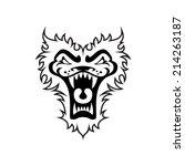 agresión,bestia,contorno,emblema,felino,imagen,línea,león,logotipo,logotipo,boca,pintura,el rugir,miedo,tigre